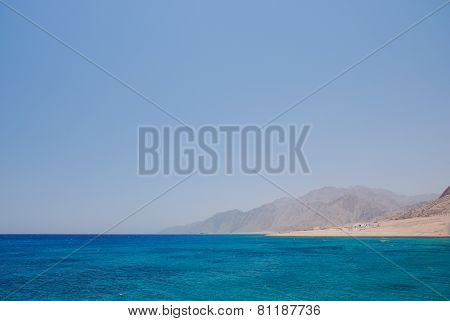 Blue Sea With Mountain