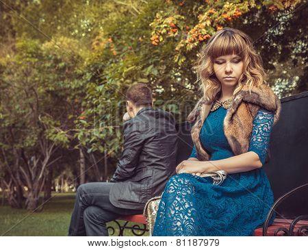 Sad Couple After A Quarrel