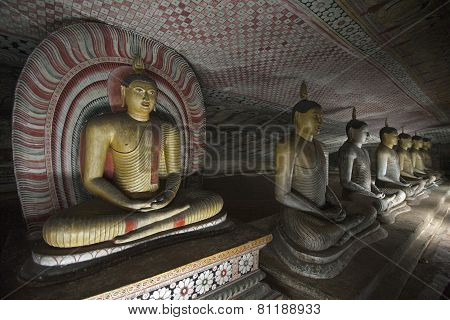 Buddha Statues At Dambulla Rock Temple, Sri Lanka