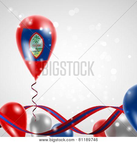 Flag of Guam on balloon