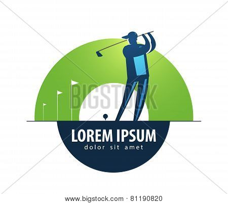 Golf vector logo design template. sports or game icon.