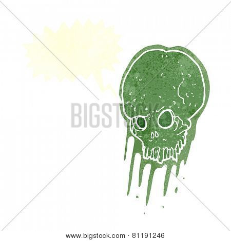 cartoon slimy spooky skull