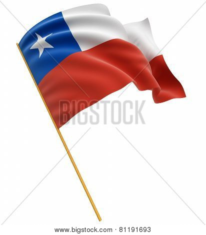 3D Chilean flag (clipping path included)