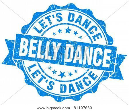 Belly Dance Blue Vintage Isolated Seal