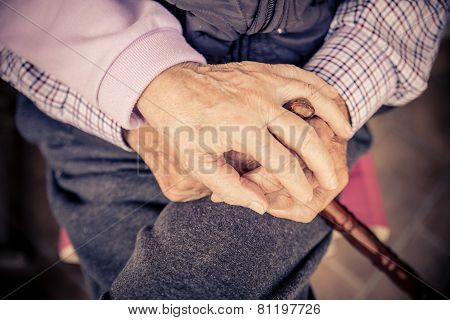 Senior Couple Hands