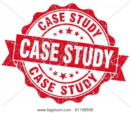 Case Study Red Vintage Isolated Seal