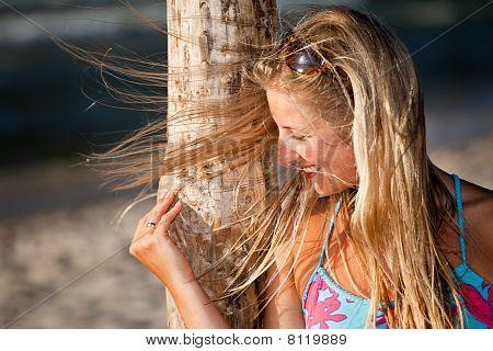 Blond woman portrait