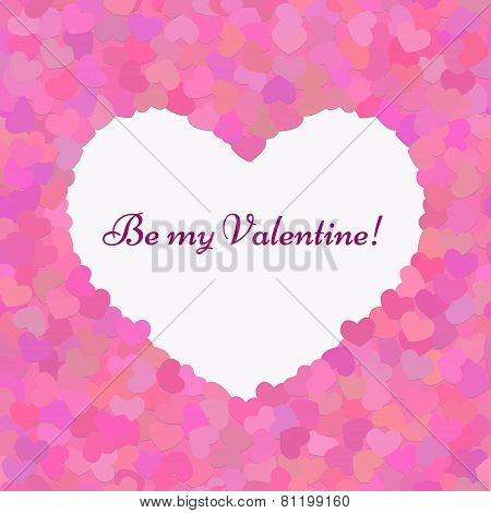 Valentines composition seamless pattern. Be my Valentine.