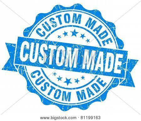 Custom Made Blue Vintage Isolated Seal