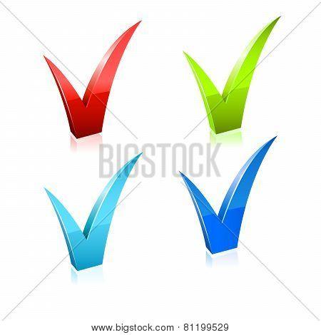 Vector checkmark set.