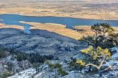 picture of horsetooth reservoir  - Lory State Park and Horsetooth Reservoir view from Arthur - JPG