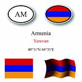 stock photo of armenia  - armenia icons set against white background abstract vector art illustration image contains transparency - JPG
