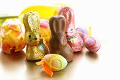 picture of easter candy  - chocolate Easter bunny candy  - JPG