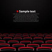 picture of cinema auditorium  - Vector cinema auditorium with seats - JPG