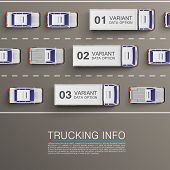 picture of truck-stop  - Freight transportation info art illustration - JPG