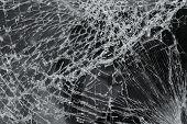pic of laminate  - Broken car windshield made of laminated glass - JPG