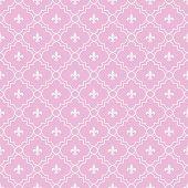 picture of fleur de lis  - Pink and White Fleur - JPG