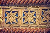 picture of synagogue  - Old photo with facade detail of a synagogue located in Timisoara Romania - JPG