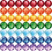 picture of refraction  - Rainbow of gems  - JPG