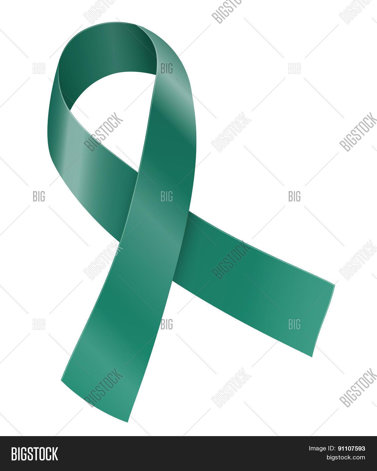 ribbon vector   photo bigstock Cervical Cancer Ribbon Butterfly Cervical Cancer Ribbon Clip Art