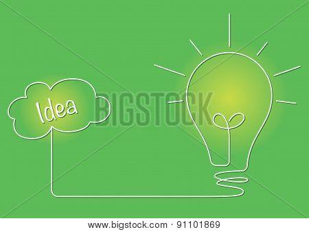 Lightbulb And An Idea