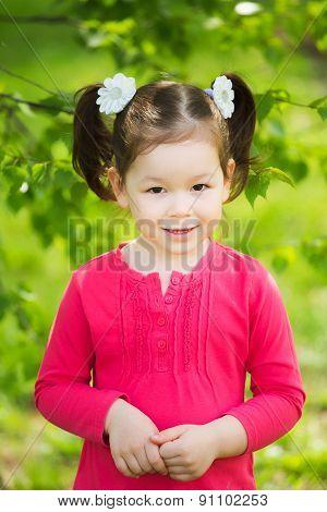 Portrait Of Funny Little Kid
