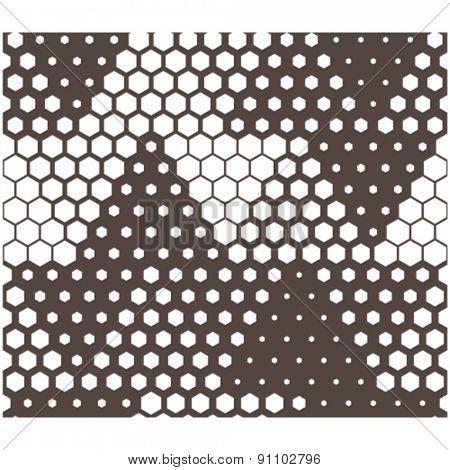 vector triangle hexagon tile seamless background
