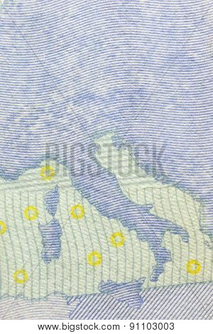 Rear Site Of A 20 Euro Banknote