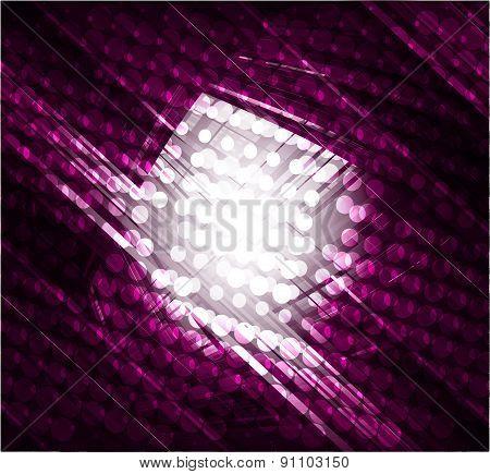 Virtual technology vector dark purple background