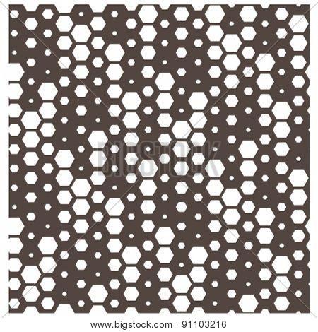 vector falling hexagon tile seamless background