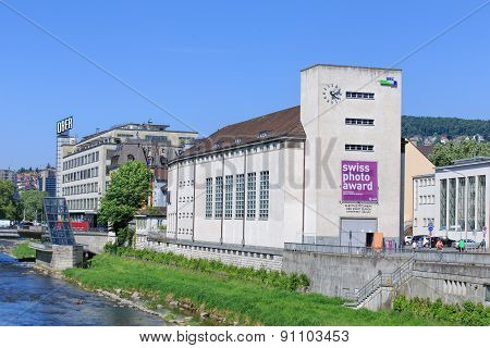 Buildings along the Sihl River in Zurich