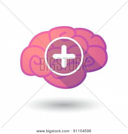 Brain Icon With A Sum Sign