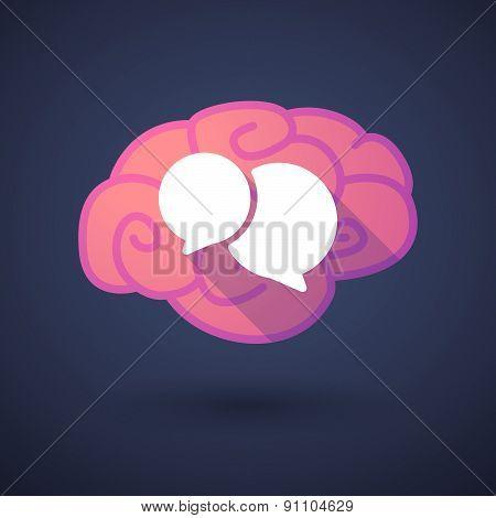 Brain Icon With A Comic Balloon