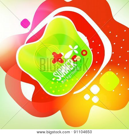 Bright Colors Fun Design Background