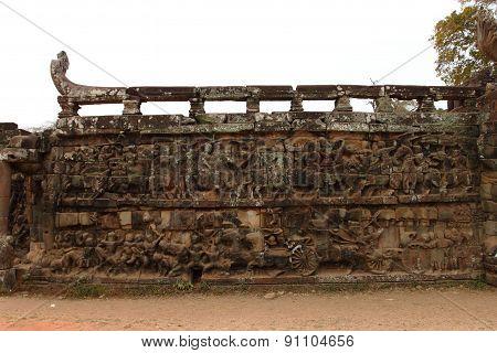 Terrace of Elephants, Angkor Thom, Siem Reap, Cambodia