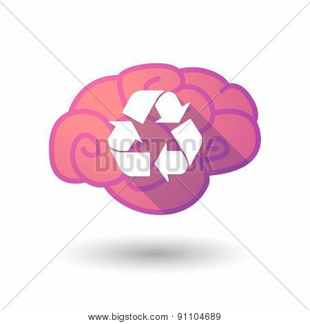 Brain Icon With A Recycle Sign