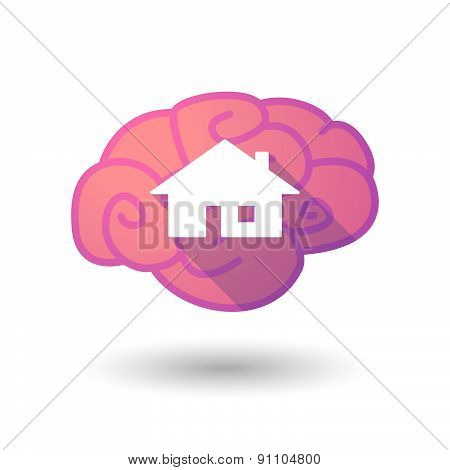 Brain Icon With A House