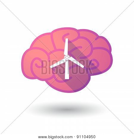Brain Icon With A Wind Generator