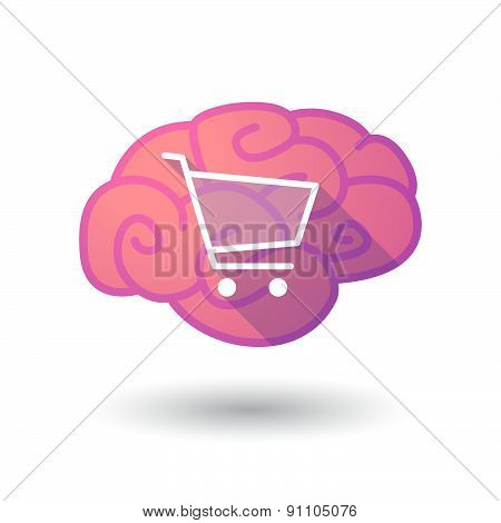 Brain Icon With A Shopping Cart