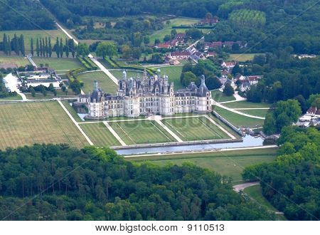 Aerial View Of Chambord Castle