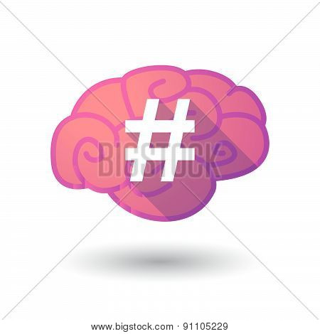 Brain Icon With A Hash Tag