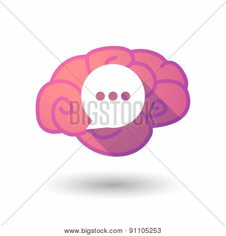 Brain Icon With A Cloud