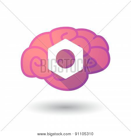 Brain Icon With A Nut