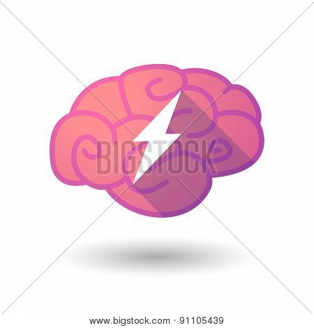 Brain Icon With A Lightning