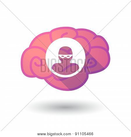 Brain Icon With A Thief