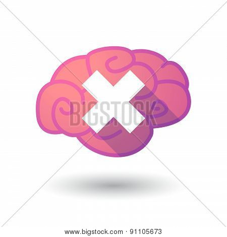 Brain Icon With An X Sign