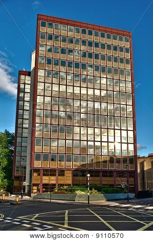 1960S Office Block In Marylebone, Central London, England, Uk, In The Late Afternoon.