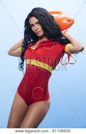 Beauty Sexy Lifeguard Woman