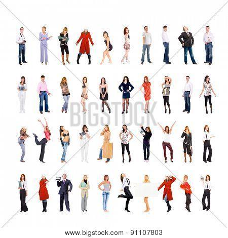 Big Group People Diversity