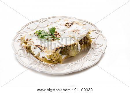 artichoke lasagne